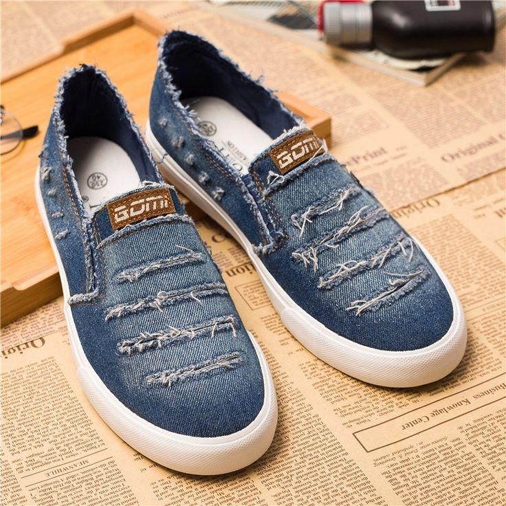 Denim material sneaker | Firstlook