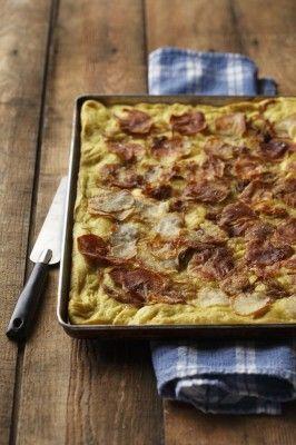 Potato curry Focaccia | CanolaEatWell.com