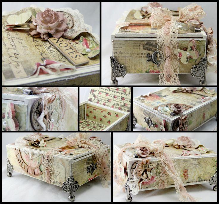 Altered cigar box. Prima Romance Novel. - Scrapbook.com  Gorgeous!!!