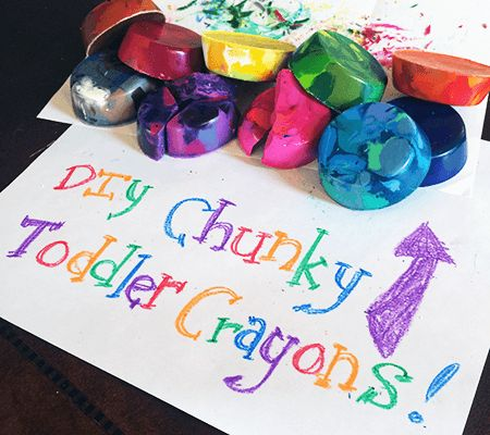 Make Your Own Chunky Toddler Crayons!