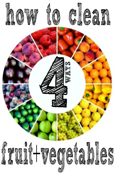 Four ways to learn how to clean produce with natural ingredients that are safe for the environment! Perfect for all the wonderful farmer's market produce.