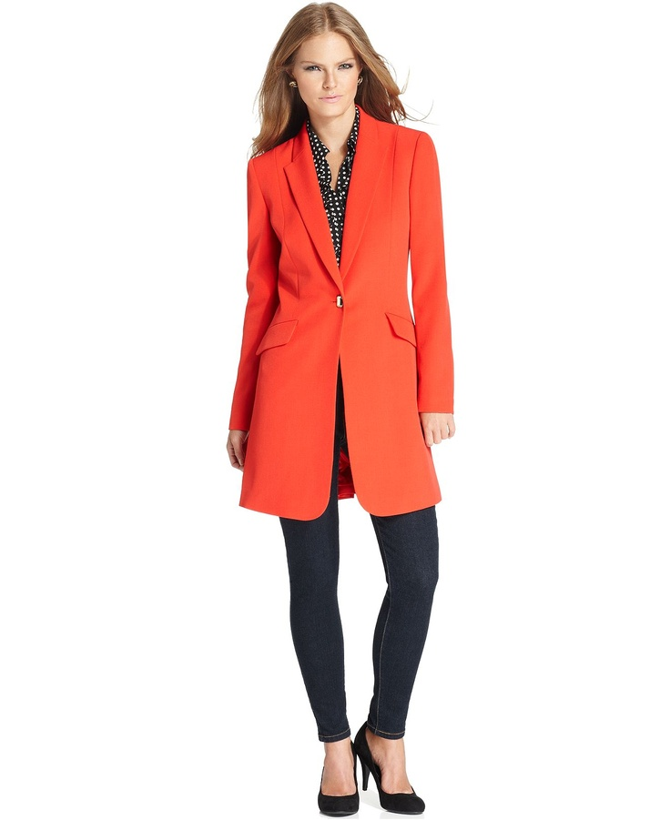 Tahari By ASL Jacket Long Metal-Button Blazer - Womens Jackets U0026 Blazers - Macyu0026#39;s | Winter ...