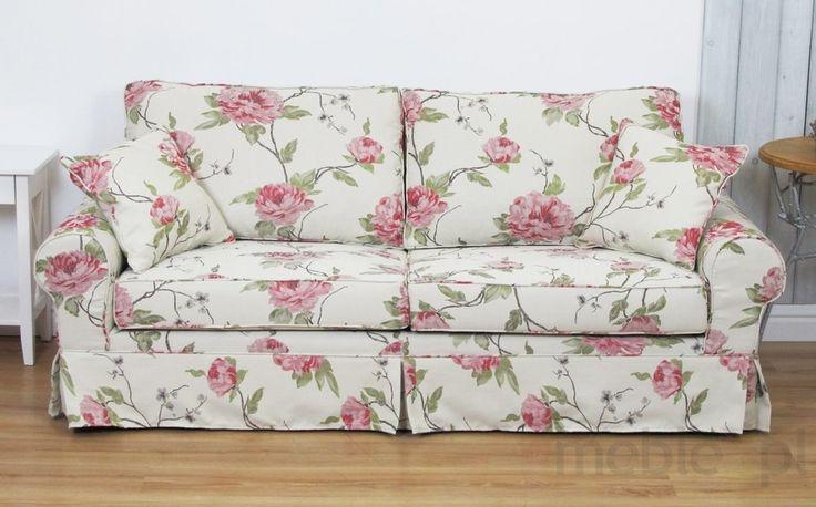 Pokrowiec w kwiaty sofa do spania okazyjnego Christine 208 cm/FS