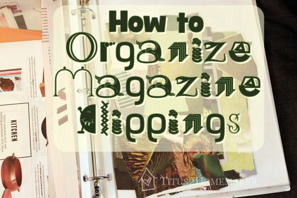 How to Organize Magazine Clippings for Art Journaling  #t2hmkr