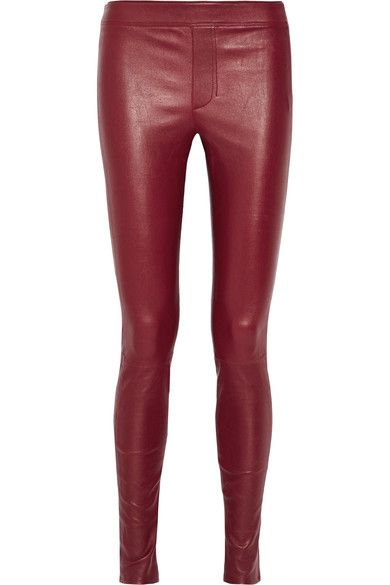 Helmut Lang   Stretch-leather leggings   NET-A-PORTER.COM