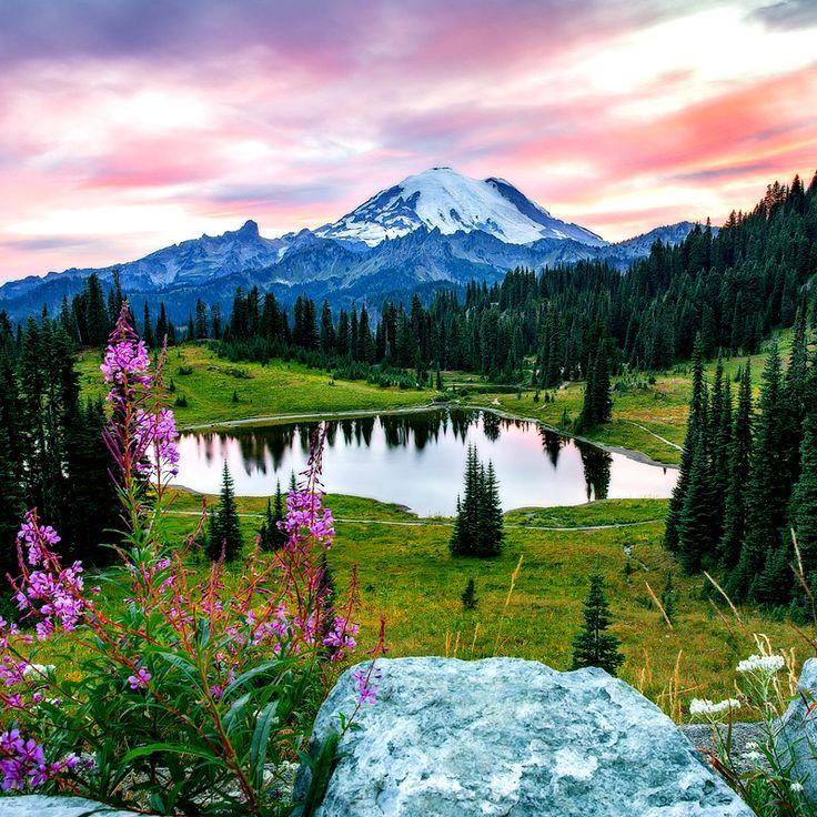Tipsoo Lake, Mount Rainier National Park, USA / Озеро Типсу, Национальный парк Маунт-Рейнир, США
