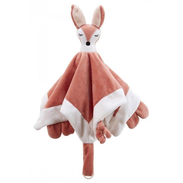 Baby Schmusetuch 'Edvin' Fuchs rostbraun 35cm