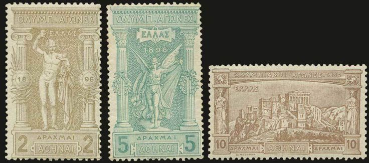 Lot 5782 | * 1896 Olympic games issue in complete set of 12 values, m. VF. (Hellas 109/120).