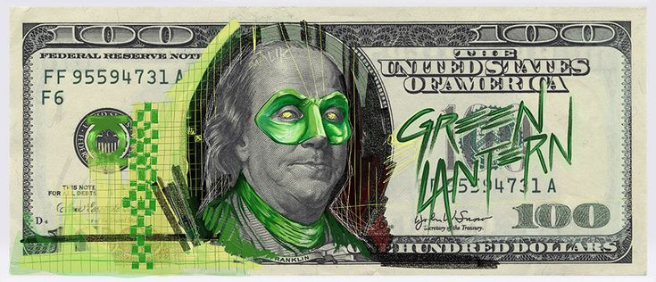 Justice League of American Dollar Bills