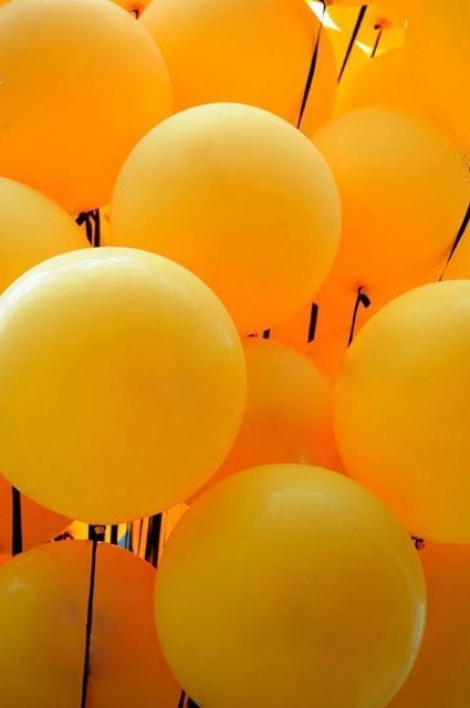 I ❤ COLOR NARANJA ❤ Orange balloons