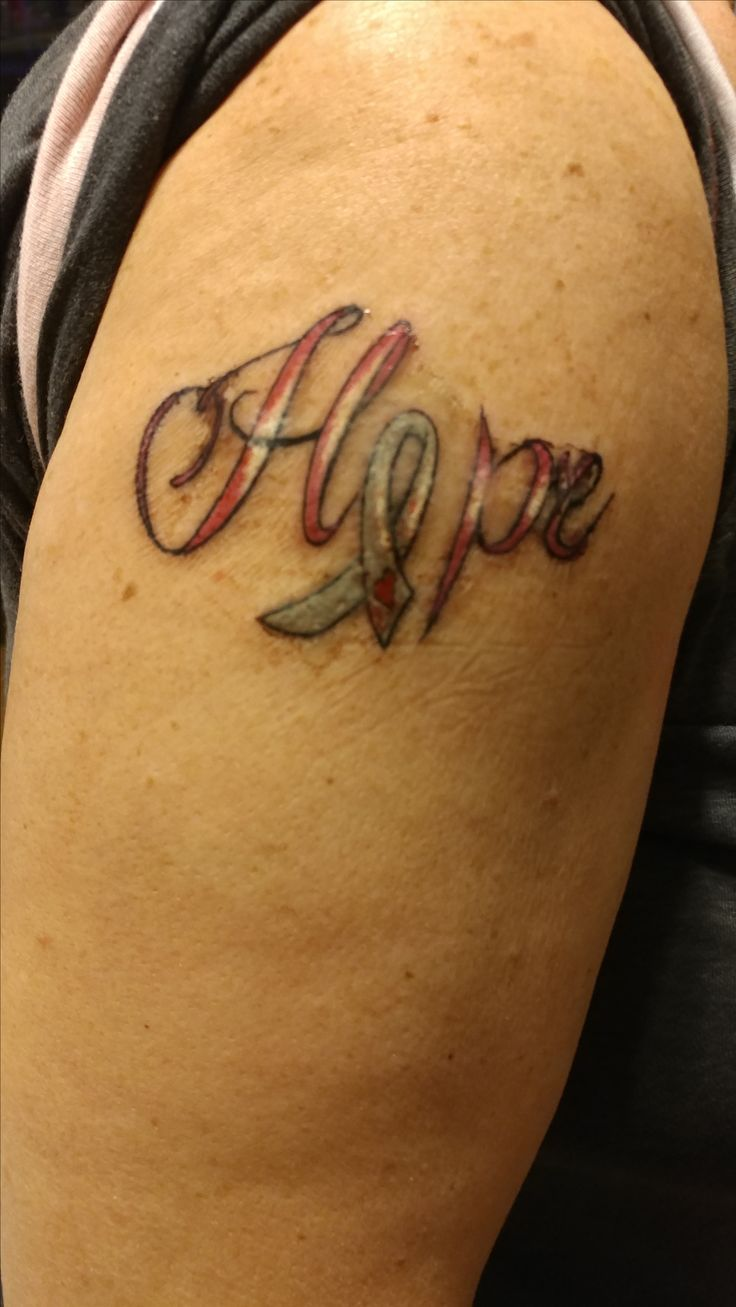 Brain cancer tattoo