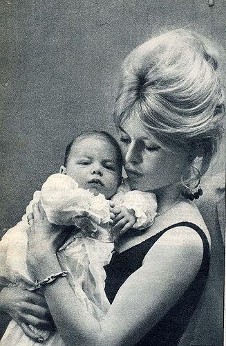 Brigitte Bardot with son Nicolas. #GotItFromMyMama  @Kimberly Peterson Taylor @Beth J J Jones