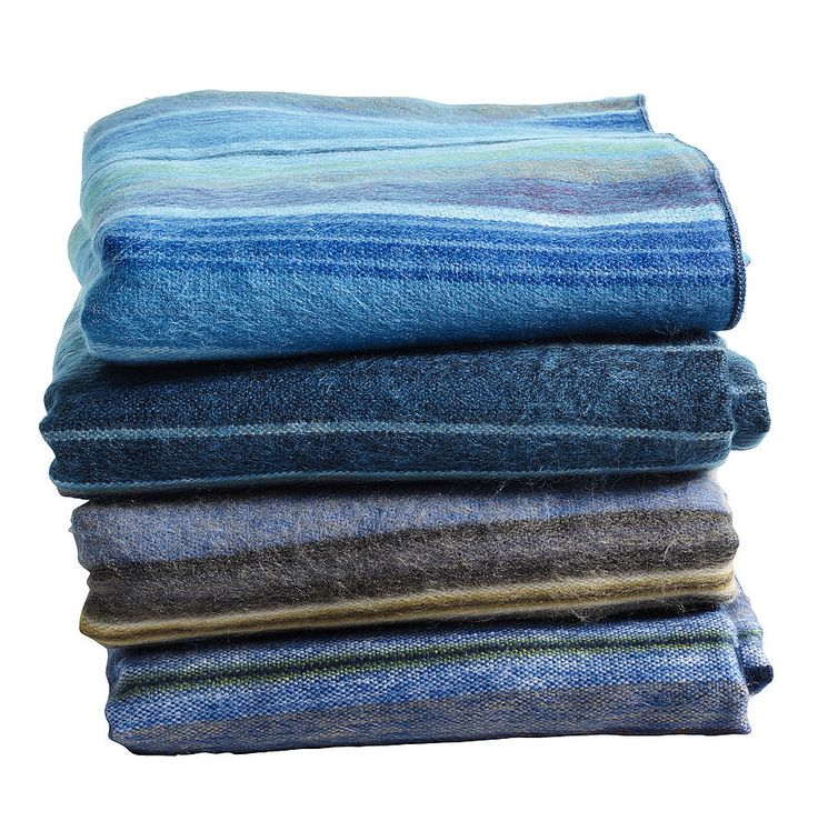 hand made alpaca blanket blue by nordal by idea home co | notonthehighstreet.com