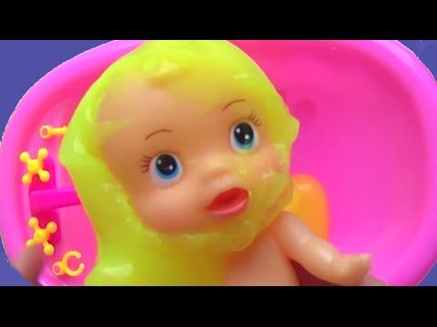 Baby Bathing Slime Surprise Toys 宝贝 沐浴 煤泥 惊喜 玩具 Nursery Baño del Bebé Juguetes Video for Kids Toyo - YouTube
