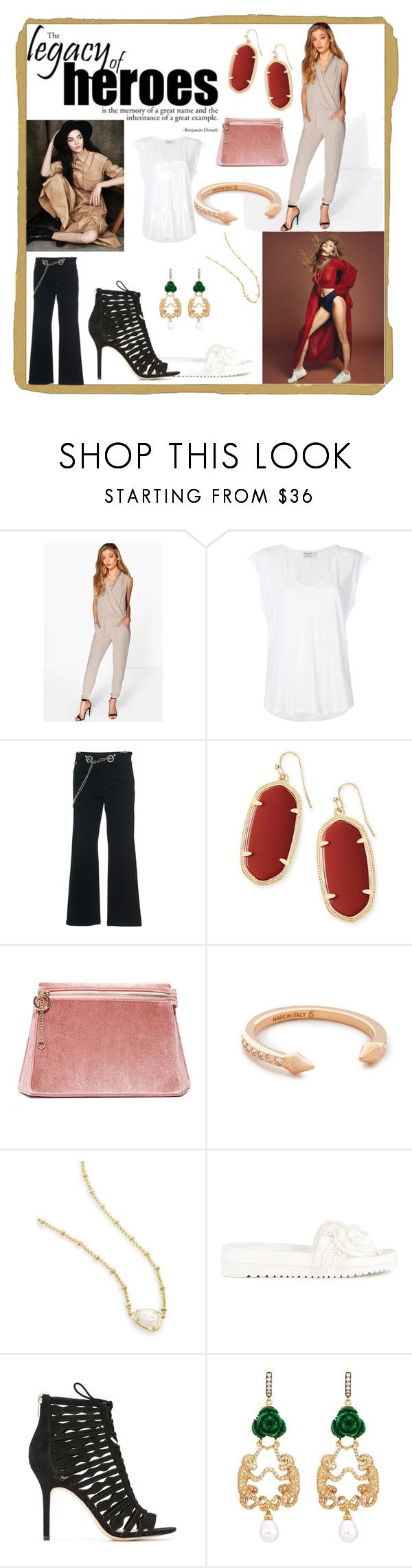 """""""Feeling Fashion"""" by denisee-denisee ❤ liked on Polyvore featuring Boohoo, Frame, Miaou, Kendra Scott, Cafuné, Vita Fede, Senso, Sam Edelman and Wendy Yue"""