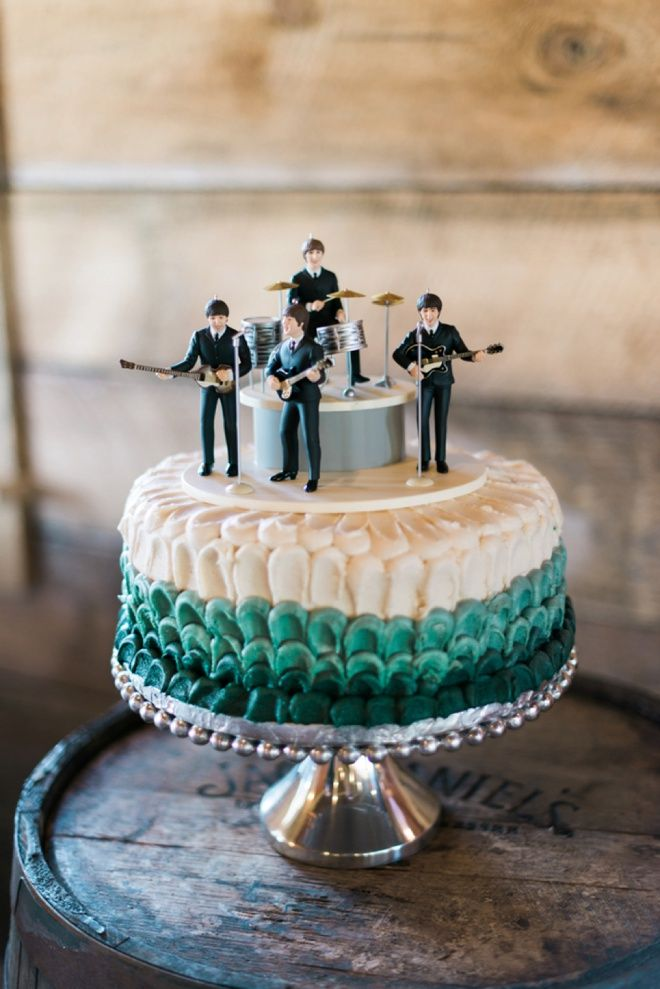 Beatles atop the grooms cake!                                                                                                                                                                                 More
