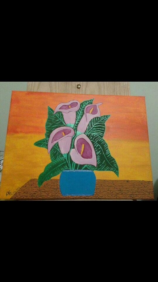 Pintado con pintura acrilica