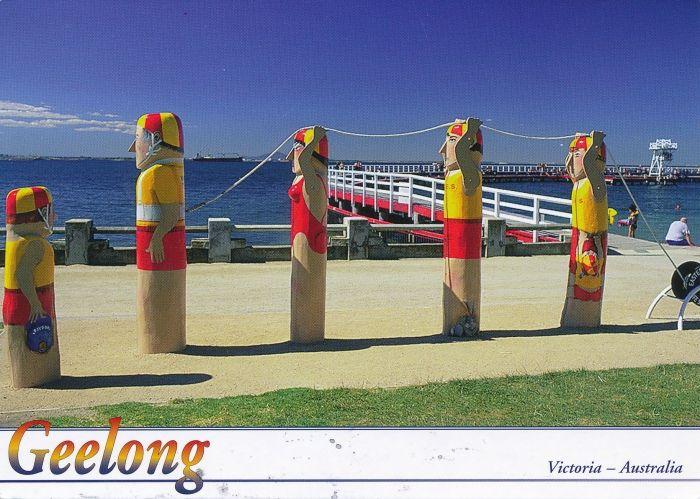 Postcard of Geelong, Victoria. Australia.