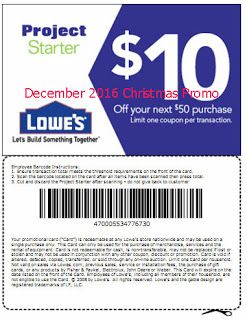 free Lowes Home Improvement coupons for december 2016