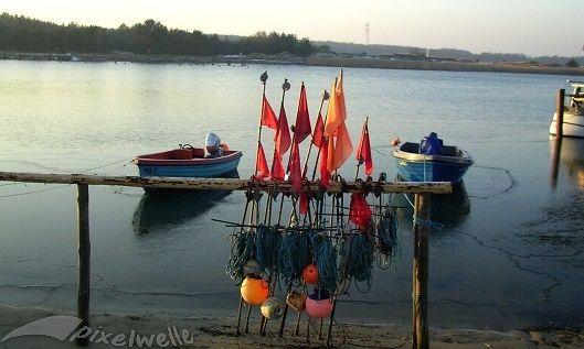 Foto Fischerboote im Seenothafen