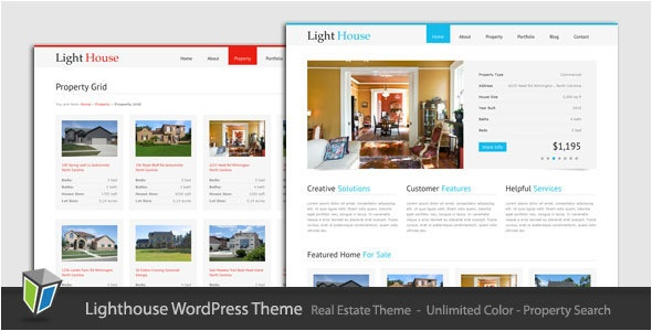 light house free real estate wordpress themes 2013