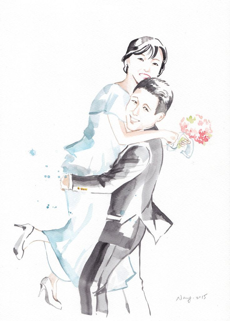 Wedding Portrait (A4) by NananStudio on Etsy