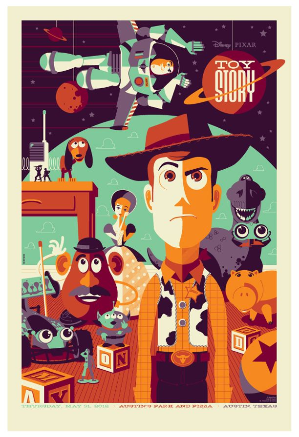 Toy Story poster by Tom Whalen.