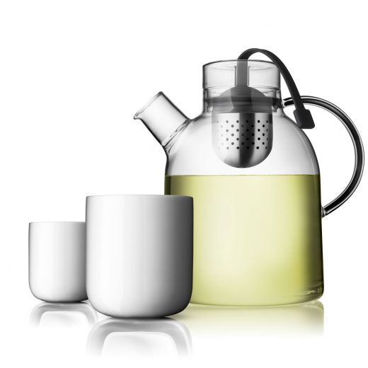 Menu Glass Tea Pot with Two Thermo Cups