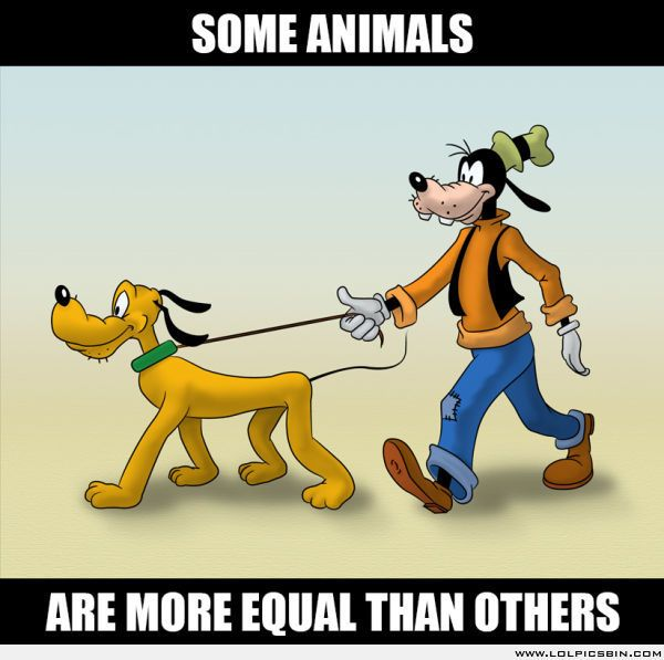 Disney logic... It's because Goofy wears clothes and Pluto doesn't. Clothes make the character more human.