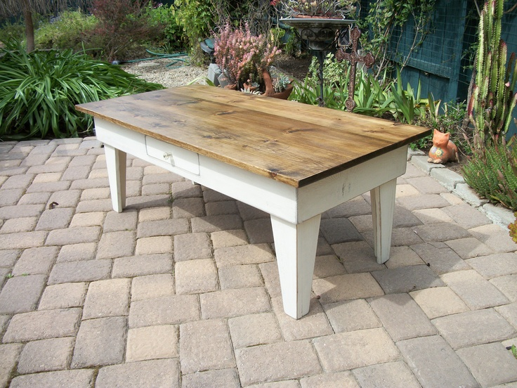 Country Pine Coffee Table With Drawer By Squarenailfurniture 250 00 Really