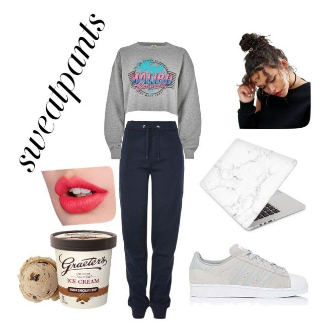 """""""sweat pants"""" by lfumbani on Polyvore featuring Tommy Hilfiger, River Island, adidas, Recover and ASOS"""