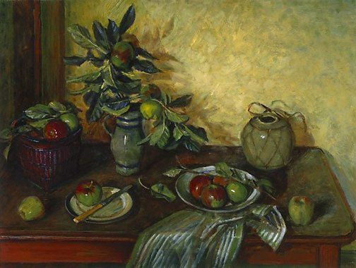 """""""Katie's Apples"""" (1989-1992) by Margaret Olley via AGNSW."""