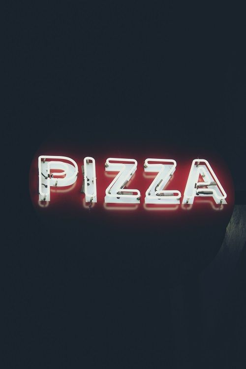 """IT NEVER TO LATE FOR PIZZA"""", (Available in Store)"""
