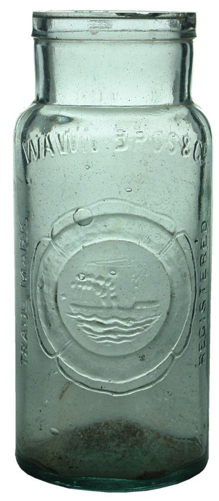 Auction 27 Preview | 572 | Wawn Bros Sailing Ship Lifebuoy Antique Pickle Jar