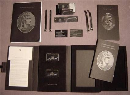 The welcome kit for the AMEX Centurion Card, otherwise ...