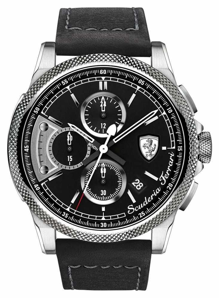 Black and stainless-steel come together for a daily smartness that looks as good with a suit as it does a casual outfit. As an authorised dealer of Scuderia Ferrari all our products are complete with.   eBay!