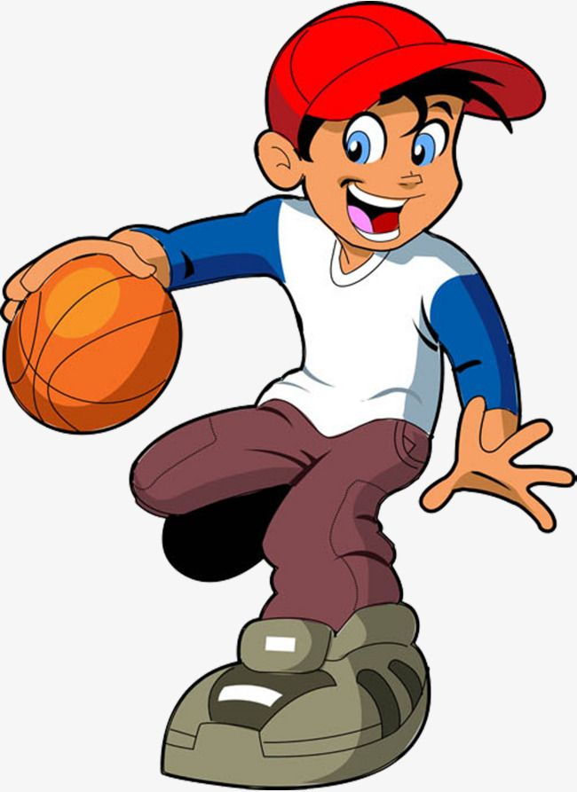 Vector To Play Basketball Guy Png And Vector Vector Character Clip Art Basketball Clipart