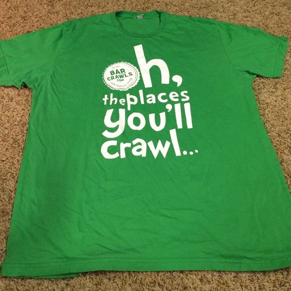 Womens Large St. paddy's Day Pub Crawl T Shirt Nice womens Large St. Paddys Day Pub Crawl 2013 gently worn soft tshirt. Great conditions no stains Company is Too faded on tag Tops Tees - Short Sleeve
