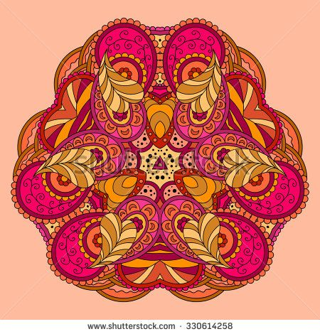 stock-vector--orange-pink-mandala-vector-illustration-330614258.jpg (450×470)
