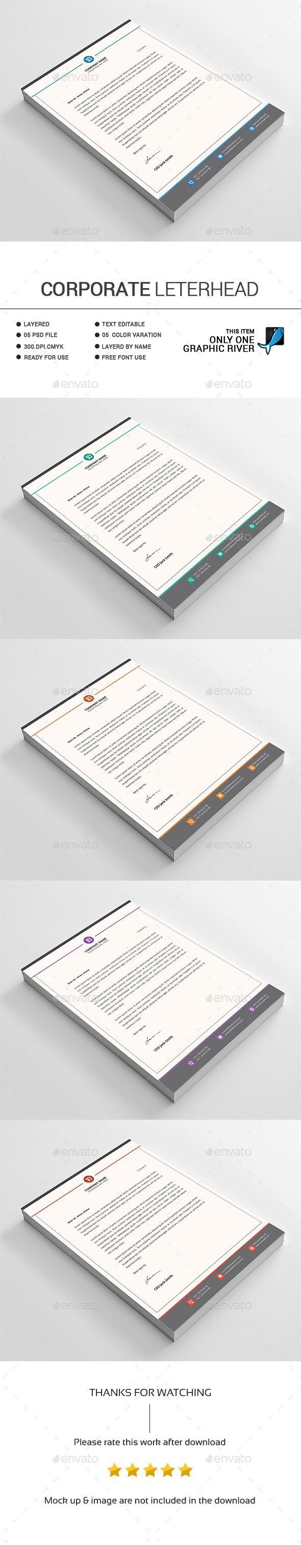 Best Letterhead Template Images On   Letterhead