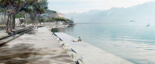 ADR architectes I Julien Descombes + Marco Rampini, Georges Descombes — Espace public des Jardins de la Rouvenaz à Montreux