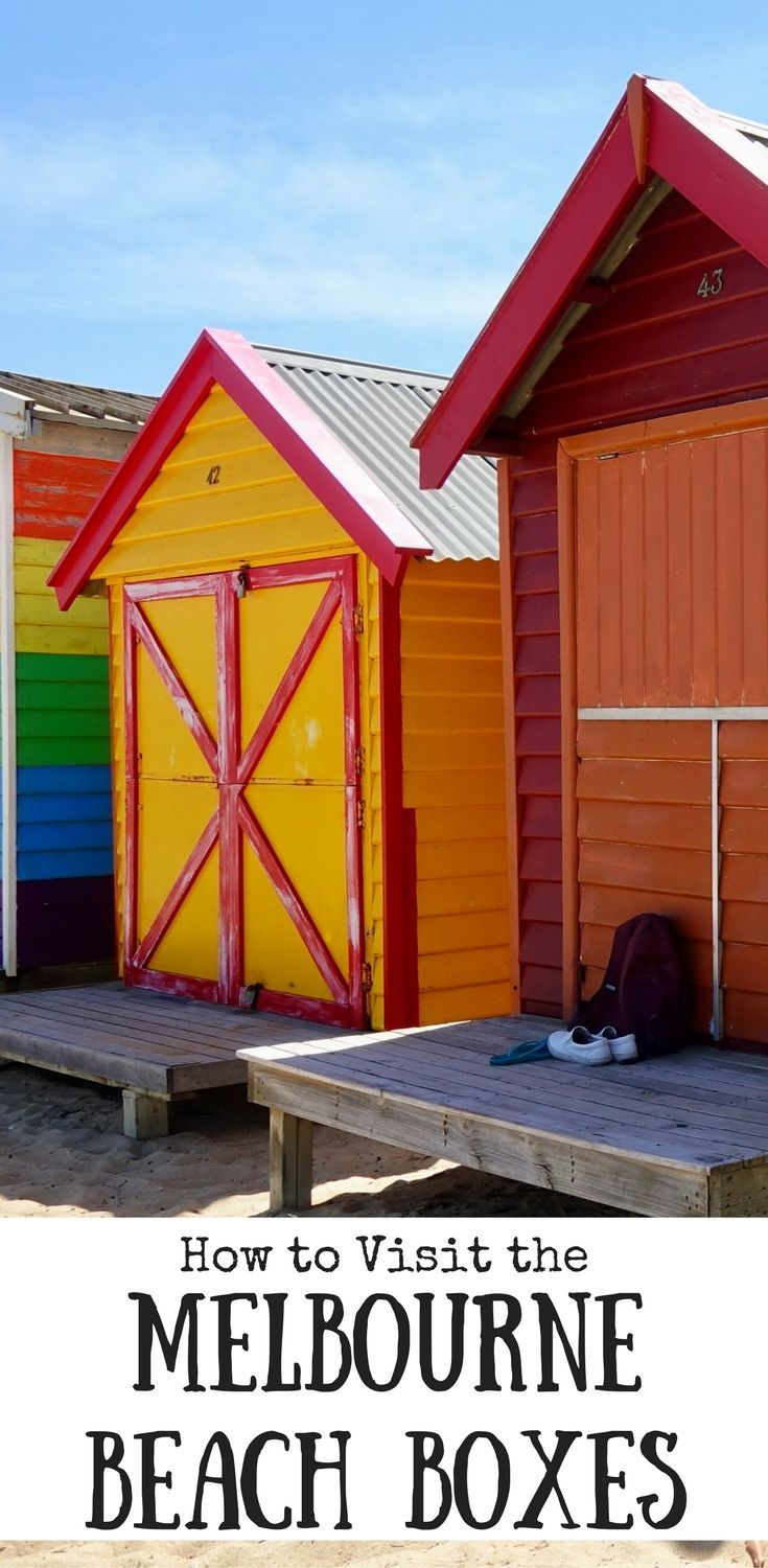 Josie Wanders | How to Visit the Melbourne Beach Boxes | http://josiewanders.com Have you seen the photos of the colourful beach boxes at Brighton Beach in Melbourne? This explains how to get there.