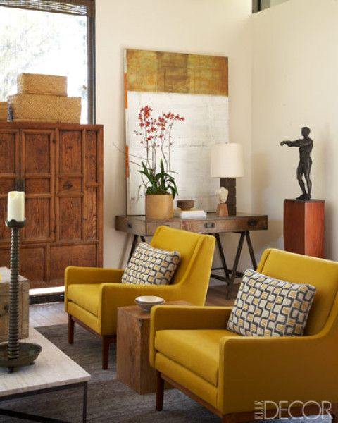 California Style with an Asian Twist. Danish ChairYellow ... - 25+ Best Ideas About Yellow Accent Chairs On Pinterest Navy Blue