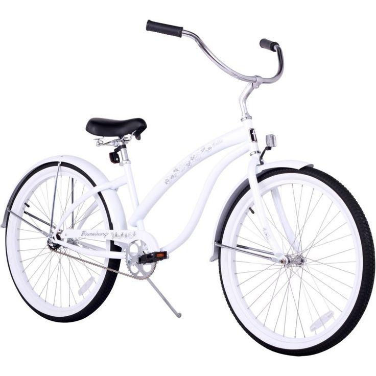 Firmstrong Women's 26'' Bella Classic Single Speed Beach Cruiser Bike, White