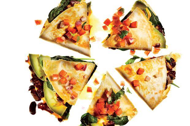 Easy veggie quesadillas for lunch, snacks, or dinner!