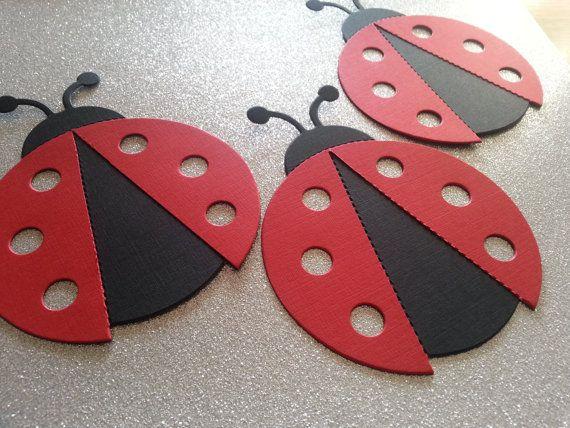 Large Ladybug Die Cuts- Party Decor- DIY Banner- DIY Centerpiece