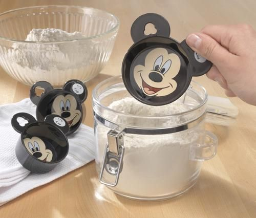 Mickey Mouse kitchen gadgets, Mickey measuring cups.