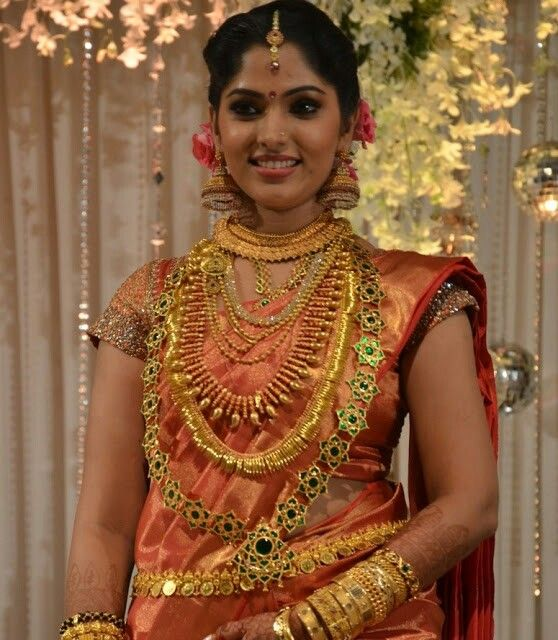 Indian Bridal Outfits Wear Dresses Tamil Wedding Sarees Bride Kerala Jewellery Jewelry