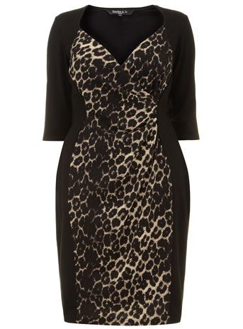 Such a flattering cut and design.  Animal Print Powerfit Dress by Scarlett & Jo