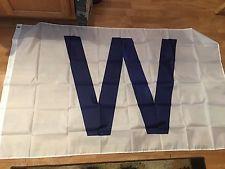 Chicago Cubs W WIN 3'x5' Indoor/Outdoor Flag Banner MLB